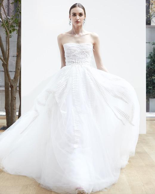 sweetheart ball gown Oscar de la Renta Spring 2018 Wedding Dress Collection