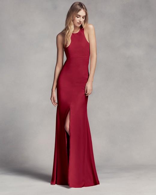 burgundy bridesmaid dress – White by Vera Wang