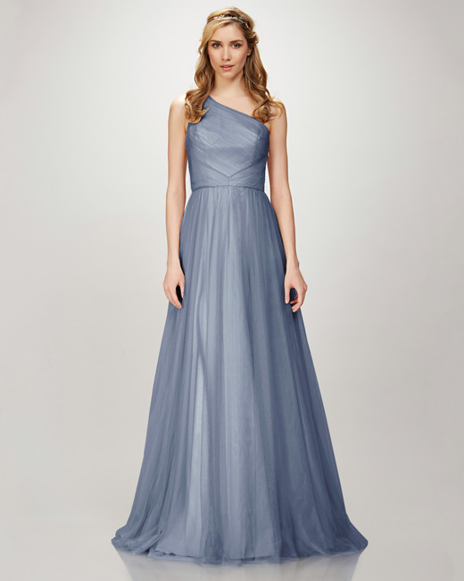winter bridesmaid dress theia holly dusty blue