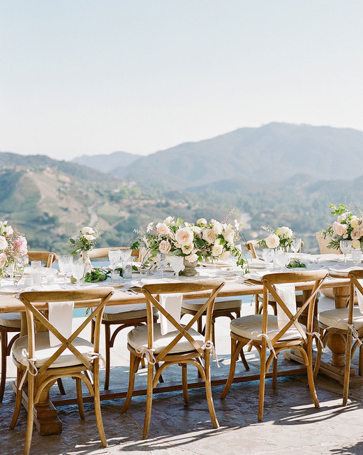 aislinn eric wedding malibu reception tables view