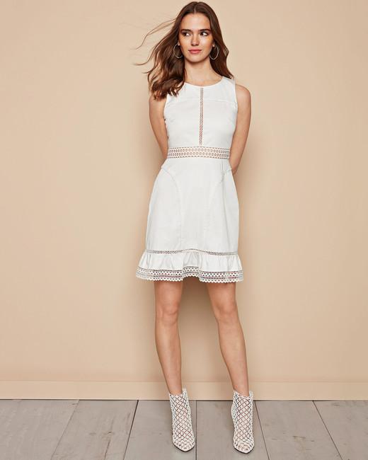 white cotton mini dress leather booties zac posen