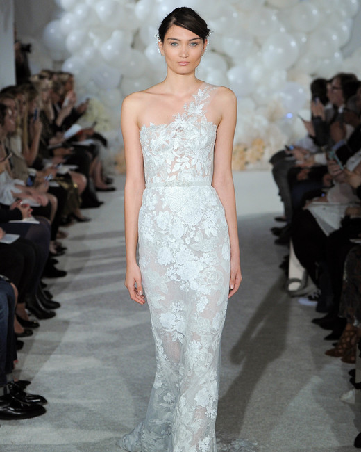 mira zwillinger wedding dress spring 2018 lace one-shoulder
