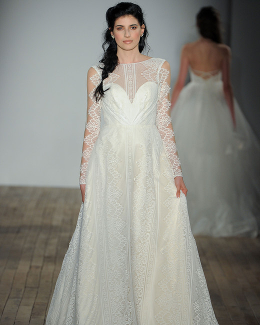 blush by hayley paige long sleeves wedding dress spring 2018