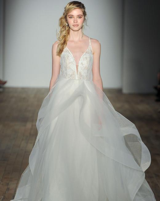 blush by hayley paige a-line spaghetti strap wedding dress spring 2018