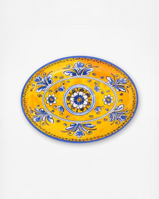 zola le cadeaux benidrom melamine oval platter