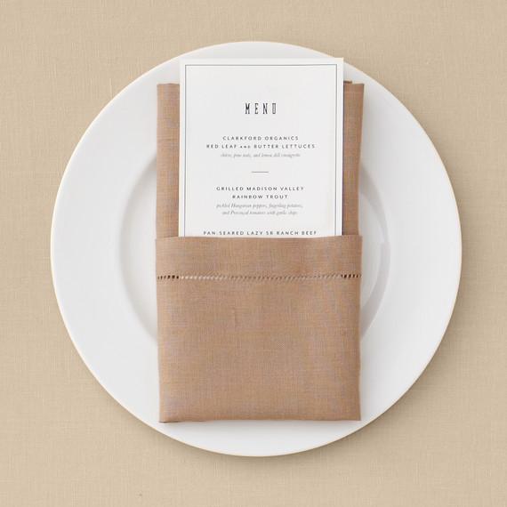 Pocket Napkin Fold Martha Stewart Weddings