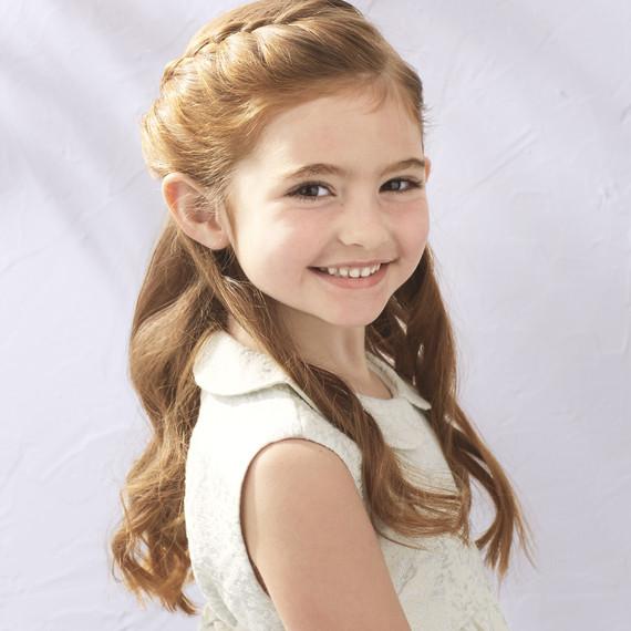 Cool Flower Girl39S Braided Half Up Half Down Hairstyle Martha Stewart Hairstyle Inspiration Daily Dogsangcom