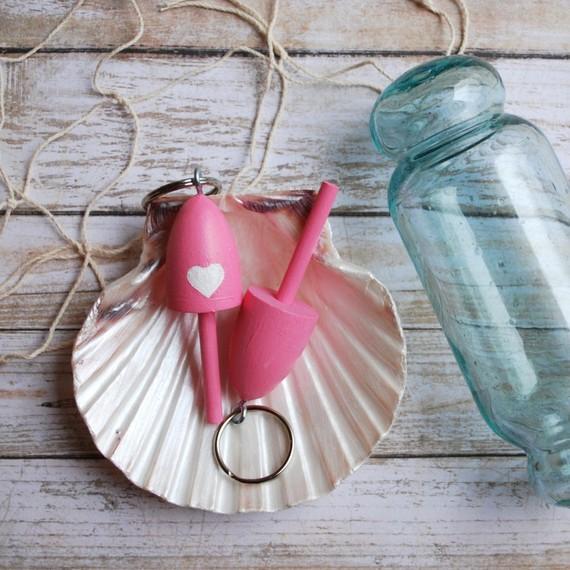 Pink Buoy Key Chain