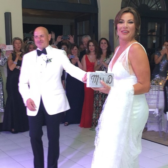 Former husband and wife: Tom D'Agostino and Luann de Lesseps at their wedding ceremony