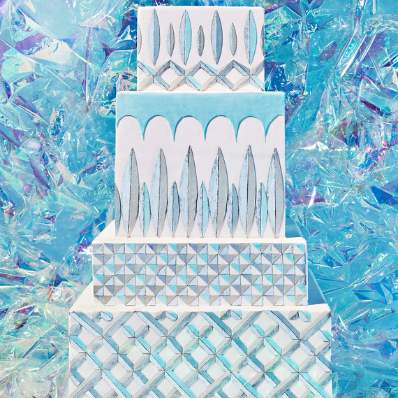 glass cake cut crystal