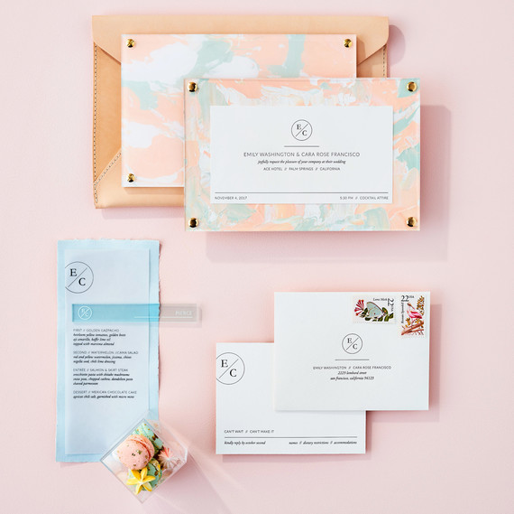 pale pastel stationery suite