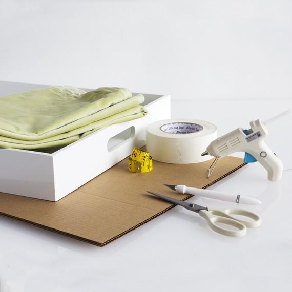 DIY Fabric Tray Liner Tools