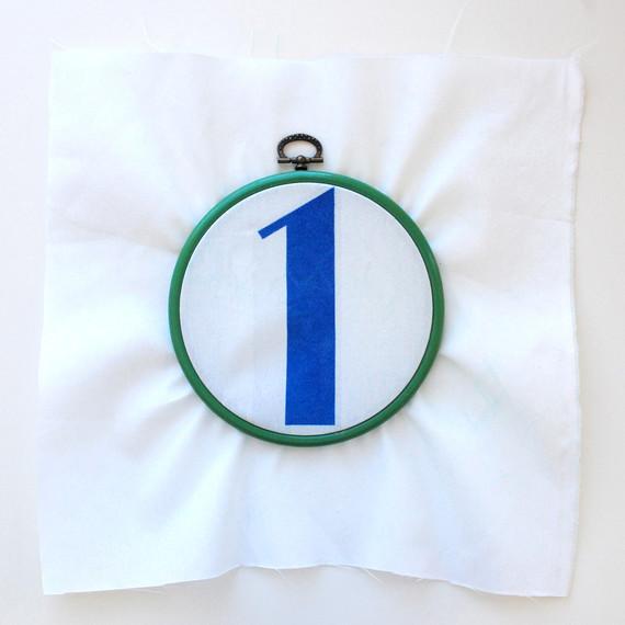 IronOn Fabric Wedding Table Numbers  Martha Stewart Weddings