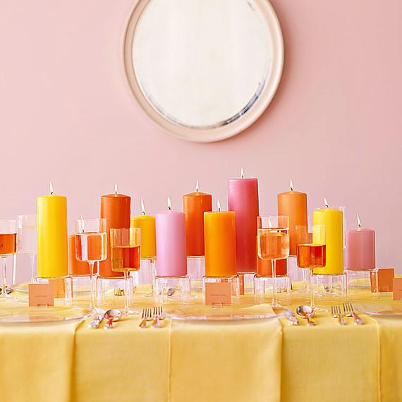 analogous candle color scheme