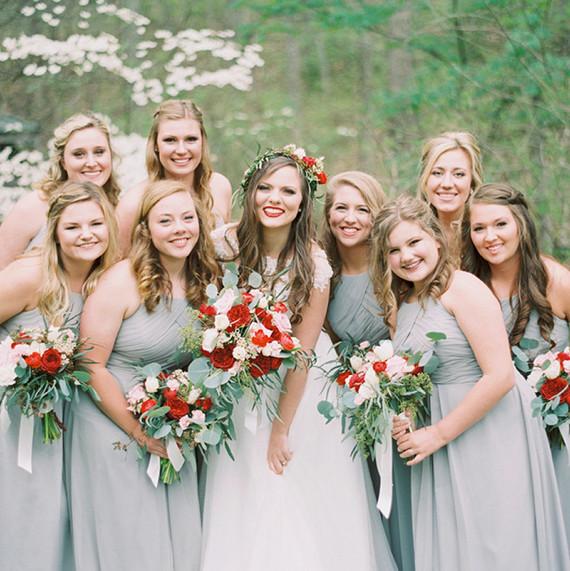 silver bridesmaid dresses - Fall Colored Bridesmaid Dresses