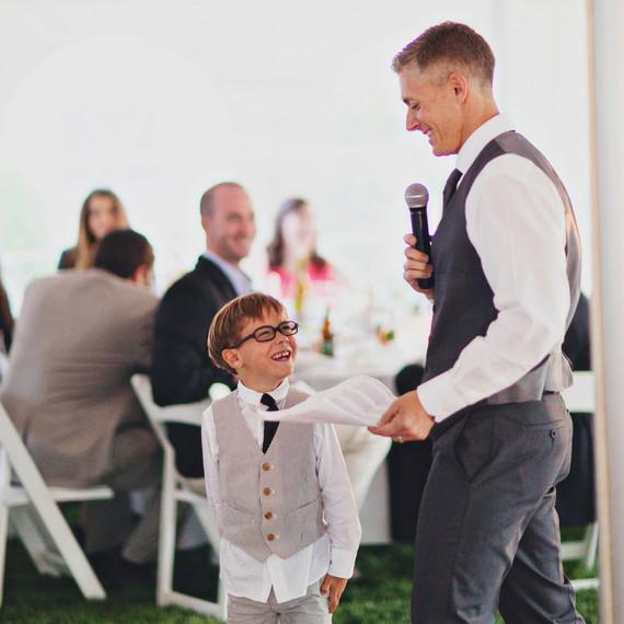 A Best Man Giving a Wedding Speech