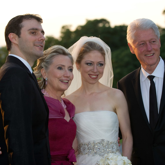 Chelsea Clinton and Marc Mezvinsky wedding photo with Bill and Hillary Clinton
