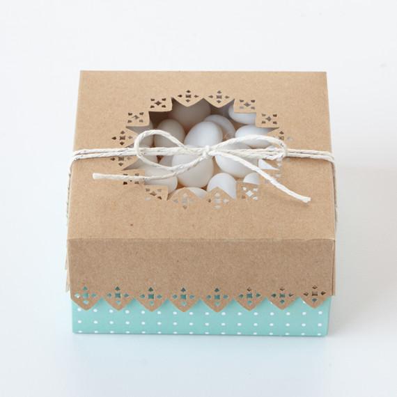 Wedding Favor Box with Cutout Details Martha Stewart Weddings