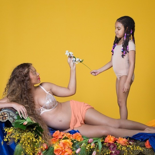 Beyonce and Blue Ivy pregnancy photo shoot