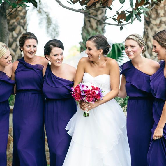 amethyst bridesmaid dresses - Fall Colored Bridesmaid Dresses