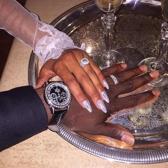 Kevin Hart Eniko Parrish wedding rings