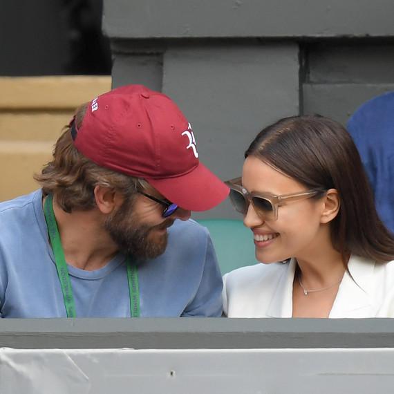 Bradley Cooper and Irina Shayk at a Wimbledon tennis game