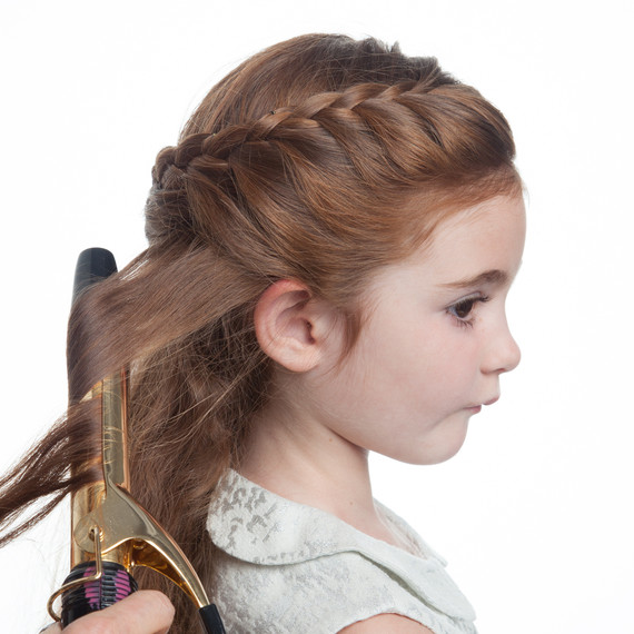 Girl Hairstyles Wedding: Flower Girl's Braided Half-Up-Half-Down Hairstyle