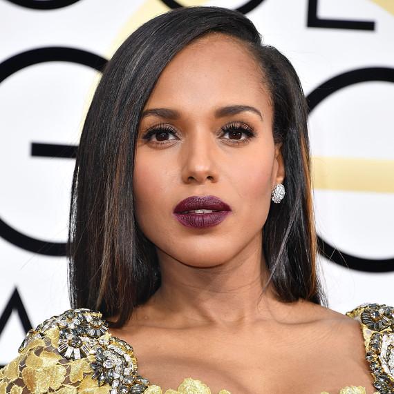 Kerry Washington Beauty Look Golden Globes