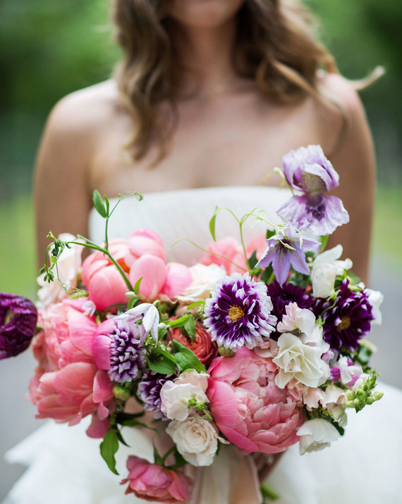 Gorgeous Purple Wedding Bouquets