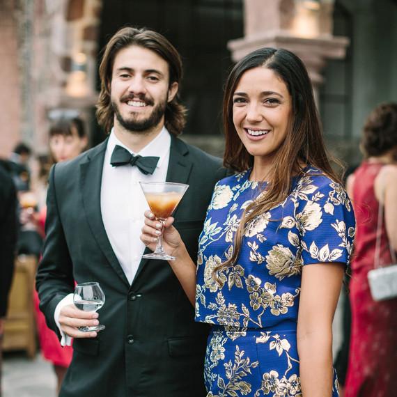 regina chris wedding guests cocktails