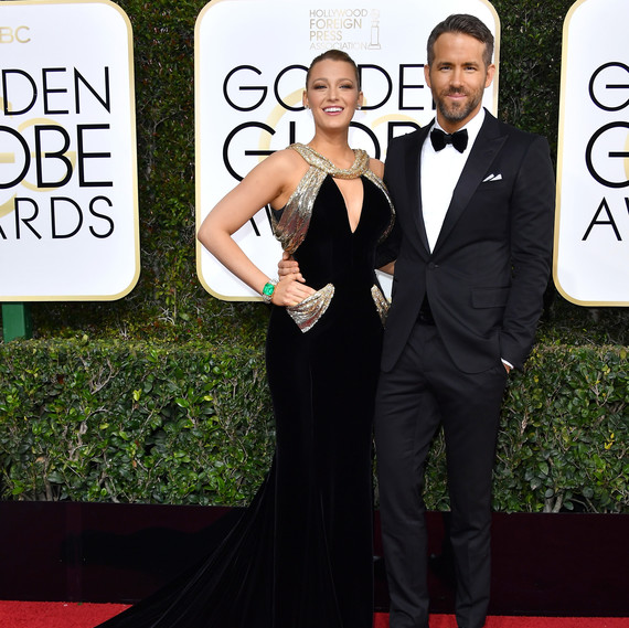 Blake Lively and Ryan Reynolds Golden Globes 2017