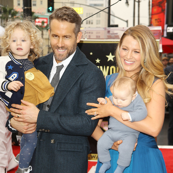 Blake Lively, Ryan Reynolds, and Daughters James and Ines