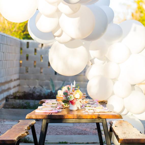 sugar cloth bridal shower balloons