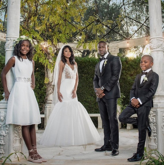 Kevin Hart Eniko Parrish married family photo