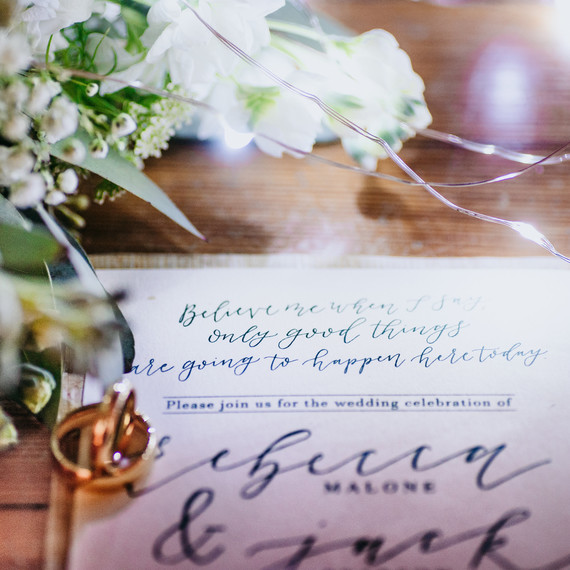 "Invitation from ""This Is Us"" Wedding Inspiration Shoot"