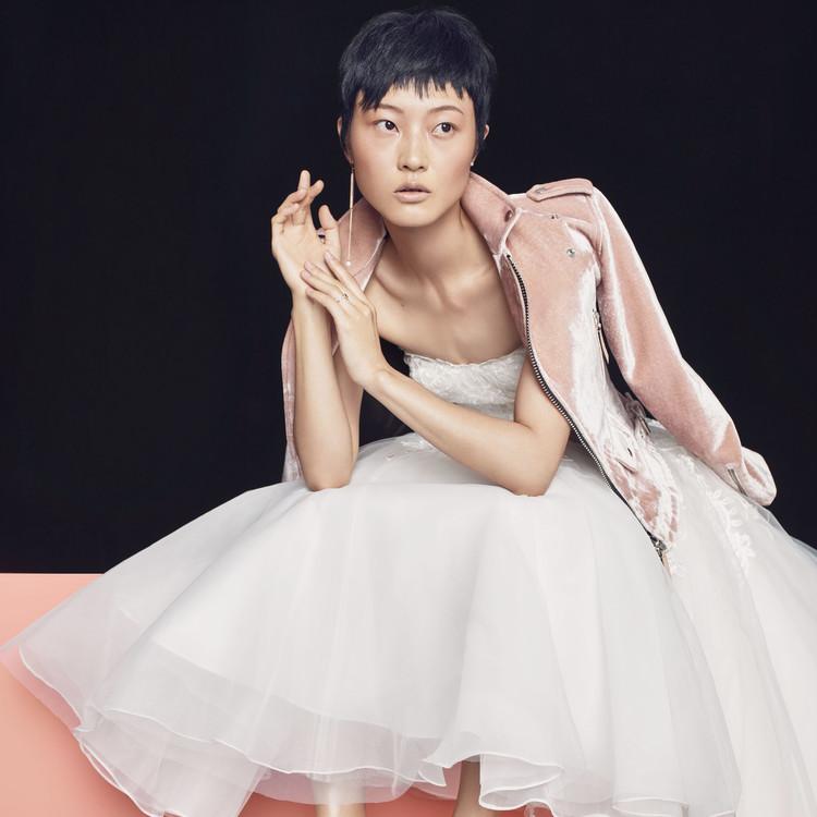 gown pink kleinfeld jacket dennis basso
