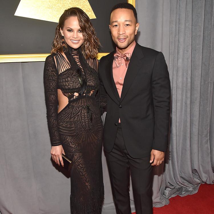 John Legend and Chrissy Teigen Grammy Awards 2017