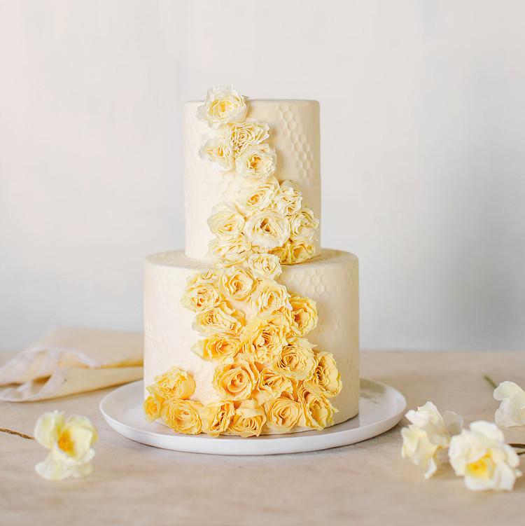 maggie austin yellow rosettes cake