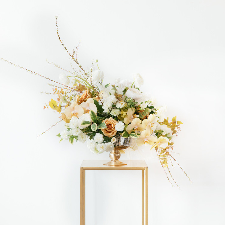 Gold floral arrangement