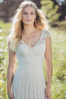 lillian west cap sleeve lace