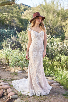 lace off shoulder lillian west gown