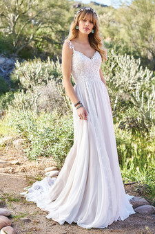lace top lillian west gown