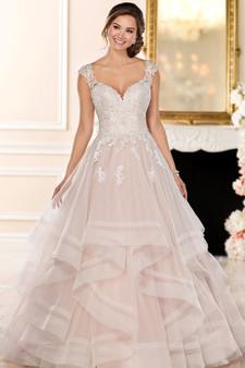 stella york ball gown v-neck
