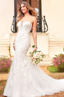 stella york full length fit and flare sweetheart