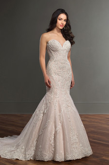 martina liana fit and flare sweetheart gown