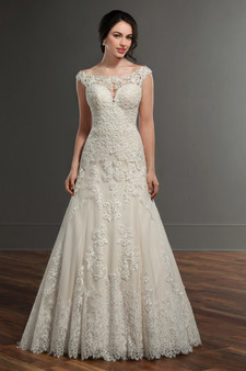 martina liana trumpet lace gown