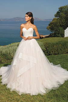 justin alexander sweetheart strapless ball gown