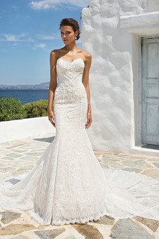 justin alexander sweetheart strapless embroidered mermaid