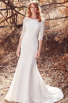 maggie sottero fall 2017 lace gown