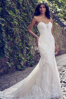 maggie sottero fit flair sweetheart strapless